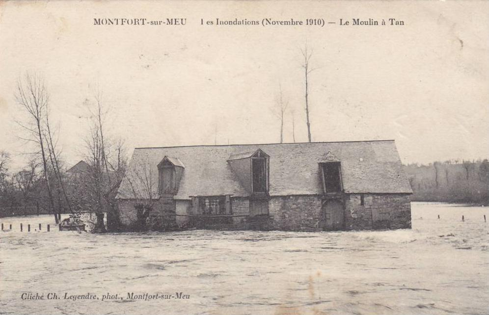 Moulin a tan inonde 1910